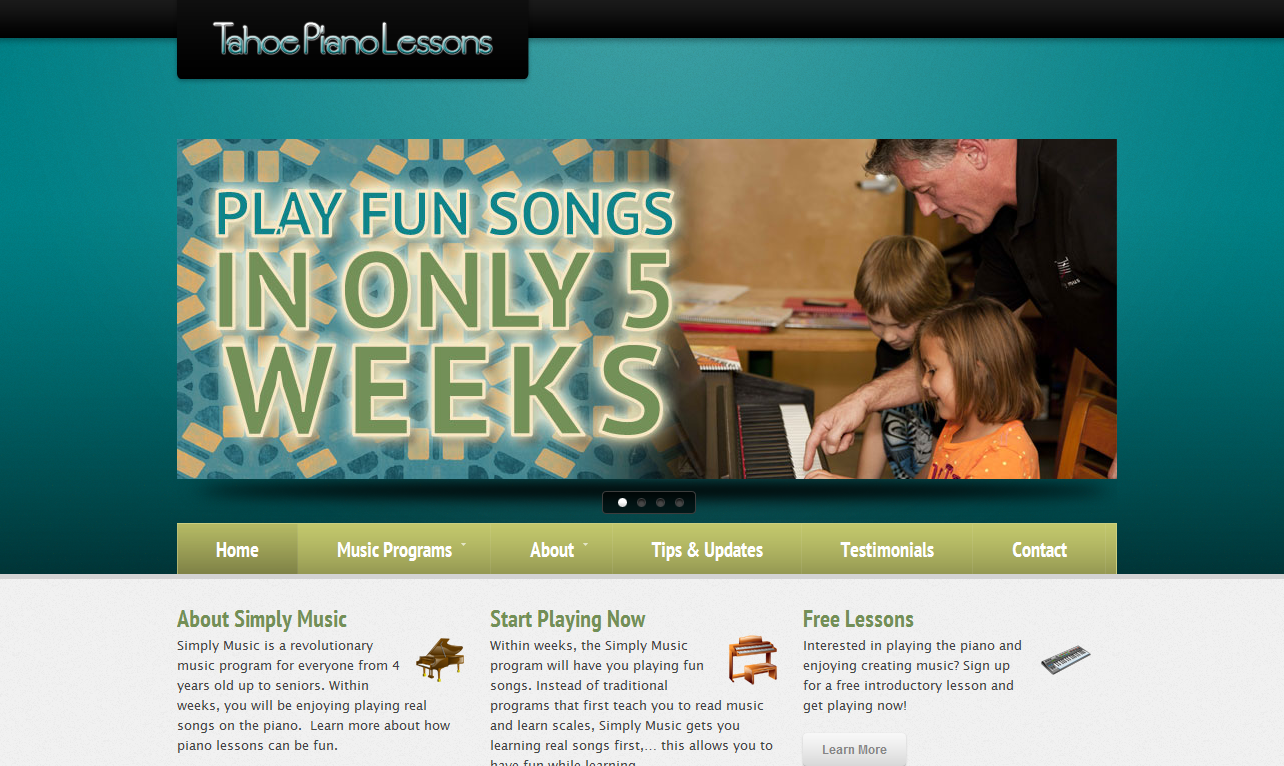 Piano learning website project