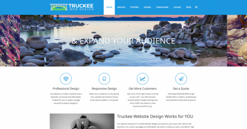 Truckee Web Design screenshot for new website design project category