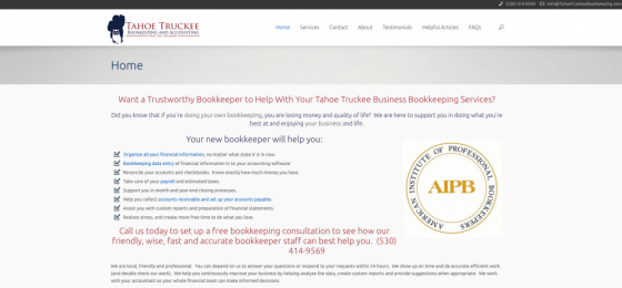 Screenshot image of Tahoe Truckee Bookkeeping and Accounting