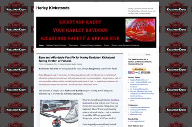 screenshot image of Harley Kickstands for project/portfolio