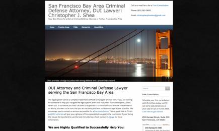 screenshot image of Christopher J. Shea website for project/portfolio